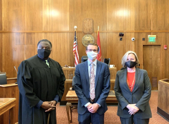 New Associate, Austin Warehime, Sworn-In